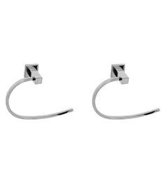 Klaxon Kristal-101 Steel Napkin Ring (Pack Of 2 Pcs)