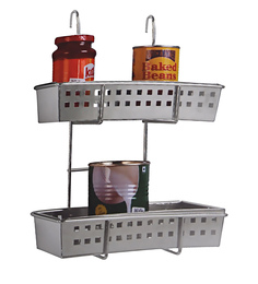 Klaxon Stainless Steel Premium Hanging Storage Rack For Kitchen