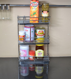 Klaxon Stainless Steel Triple Shelf Front Spice Rack