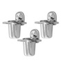 Klaxon Armano Chrome Stainless Steel Tumbler Holder - Set of 3