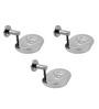 Klaxon Calibo Chrome Stainless Steel Soap Dish - Set of 3