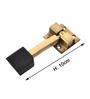 Klaxon Glorious 4 Brass Door Accessories Kit - Set of 6