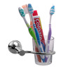 Klaxon Krypton Chrome Stainless Steel Toothbrush Holder