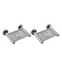 Klaxon Krysil Chrome Stainless Steel Soap Dish Set