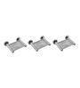 Klaxon Krysil Chrome Stainless Steel Soap Dish - Set of 3