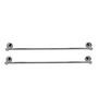 Klaxon Krysil Steel Towel Rod Chrome Finish Set of 2 Pcs