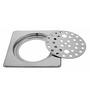 Klaxon Silver Stainless Steel Bathroom Floor Drain