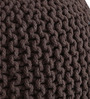 Knitted Pouffe in Brown Colour by SWHF