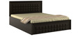 Kosmo Choco Queen-Size Bed with Hydraulic Storage in Vermont Colour by Spacewood