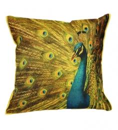 Komfi Peacock Digital Print Cushion Cover