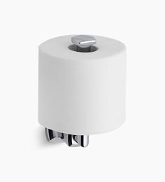 Kohler Silver Stainless Steel Margaux Vertical Toilet Paper Holder