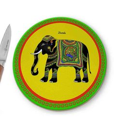 Kolorobia Elephant Glass Chopping Board