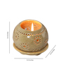 Kokoon Cream Ceramic Tea Light Holder