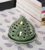 Kokoon Green Ceramic Tea Light Holder