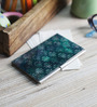 Kolorobia on the Go Metal Pine Green Damask Visiting Card Holder