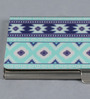 Kolorobia on the Go Metal Blue Drop Ikat Visiting Card Holder