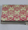Kolorobia on the Go Metal Green Enthralling Damask Visiting Card Holder