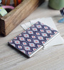 Kolorobia on the Go Metal Dark Blue Drop Ikat Visiting Card Holder