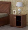 Kosmo Grace Bed side Table in Rigato Walnut Finish by Spacewood