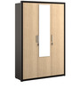 Kosmo Marina Three Door Wardrobe in Natural Wenge Color by Spacewood