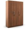 Kosmo Optima Three Door Wardrobe in Walnut Finish by Spacewood