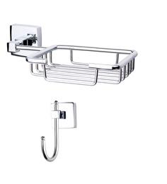 KRM Decor Solitaire Brass Bathroom Fixture Set - Set Of 2