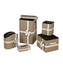 Kraftsmen Designer PU Beige Housekeeping Set - Set of 5