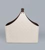 Kraftsmen Premium PU Off White Basket with Buckle Handle