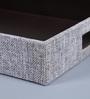 Kraftsmen PU & Fabric Light Grey Serving Tray