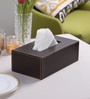 Kraftsmen PU Dark Brown Tissue Paper Holder