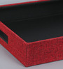 Kraftsmen Red PU & Fabric Serving Tray