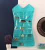 KRIO Designs Mesh Aqua Green Dress-shaped Jewellery Organiser
