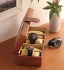 KRIO Designs PU Leather Metallic Copper 5-case Watch Box