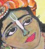 Krish Art Canvas & Acrylic 11 x 1.5 x 10 Inch Rajkot Krishna Original Framed Painting