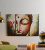 Krish Art Canvas & Acrylic 30 x 1.5 x 20 Inch Lotus Buddha Original Framed Painting