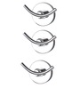 KRM Decor Moonstone Silver Brass Clothes Hook - Set of 3