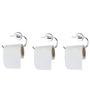 KRM Decor Moonstone Brass Toilet Paper Holder - Set of 3