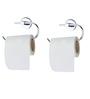 KRM Decor Moonstone Brass Toilet Paper Holder - Set of 2