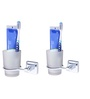KRM Decor Coral Stainless Steel Toothbrush Holder - Set of 2
