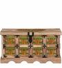 Sthagika Trunk Box in Natural Finish by Mudramark