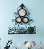 Kulture Label Black Metal & Glass 19.5 x 21 Inch Thermometer & Hygrometer Wall Clock