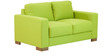 L'Aquila Two Seater Sofa in Citron Green Colour by CasaCraft