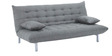 L-Shape Sofa cum Bed Set in Light Grey Colour by Furny