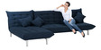 L-Shaped Sofa Bed in Dark Blue Colour by Furny