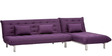 L-Shaped Sofa Bed in Purple Colour by Furny
