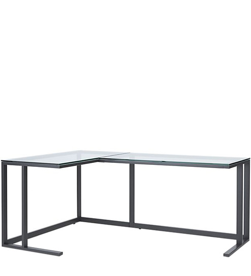 l shape office desk in black colour by asian arts asian office furniture