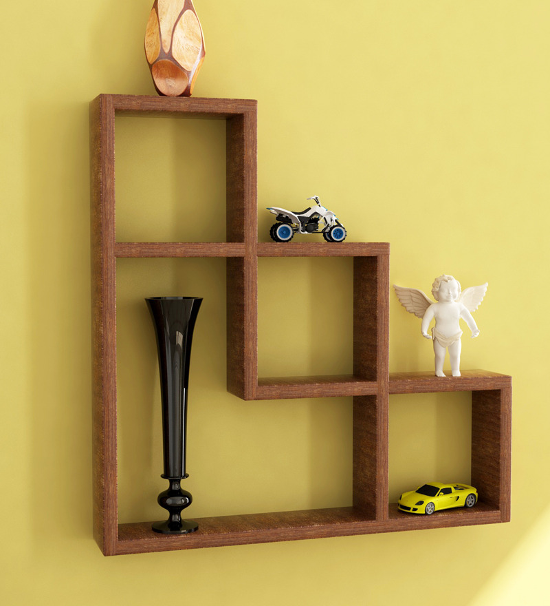 L shaped wall shelf by home sparkle online wall shelves for Decoration shelf