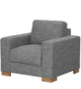 L'Aquila One Seater Sofa in Ash Brown Color by CasaCraft