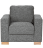 L'Aquila One Seater Sofa in Ash Brown Colour by CasaCraft