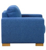 L'Aquila One Seater Sofa in Denim Blue Colour by CasaCraft